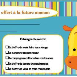 Certificats-cadeaux à la future maman
