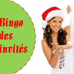 Bingo des invités - spécial Noël