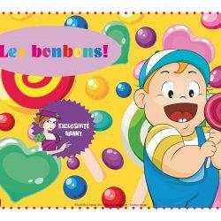 Animation thème bonbons
