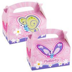 4 boîtes à surprises papillons