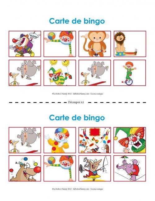 Bingo sur le cirque